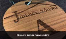 Breloki drewniane grawerowane