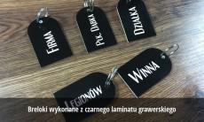 Breloki grawerowane z laminatu 3mm