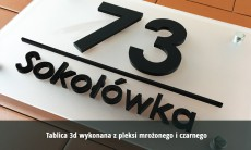 Tablice na dom 3D 40x30 cm