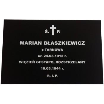 Tablice nagrobne prostokątne 20x15 cm